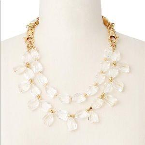 Ann Taylor Gold Tone Drop Necklace and Bracelet